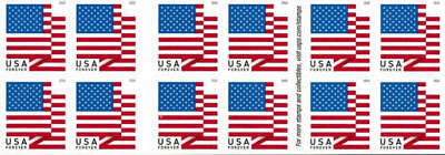2018 50c American Flag, Red, White & Blue, Booklet of 20 Scott 5262 Mint VF NH