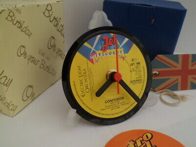 ELO ELECTRIC LIGHT ORCHESTRA VINYL RECORD CLOCK actual SINGLE RECORD CENTRE