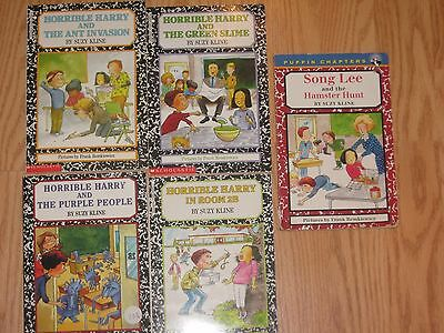 LOT of 5 HORRIBLE HARRY by Suzy Kline Paperback BOOKS FREE SHIPPING