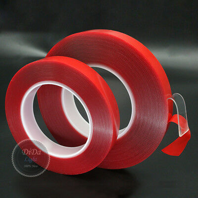 (Width:5~50mm/Thick:0.5~1.0mm)Red Double Sided Sticky Adhesive Transparent Tape