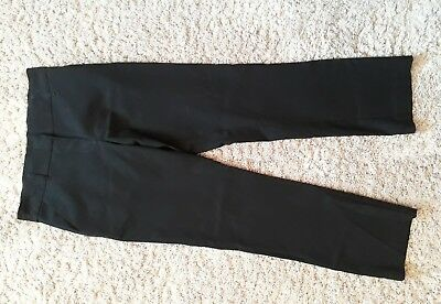 3 Pairs of Marks & Spencer Girls Black Trousers Age 11-12 Very Good Condition