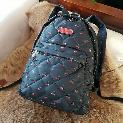 8aef30b1d132 Marc By Marc Jacobs Crosby Quilted Nylon Workwear Cherry Print Backpack