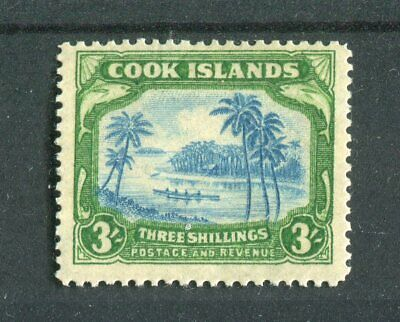 Cook Islands KGVI 1938 3/- greenish blue & green SG129 MH