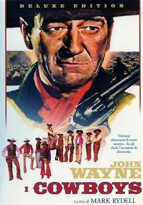 "I cowboys (1972) DVD Ed. Warner Italiana ""Deluxe Edition"" Z8 Raro Fuori Catalogo"