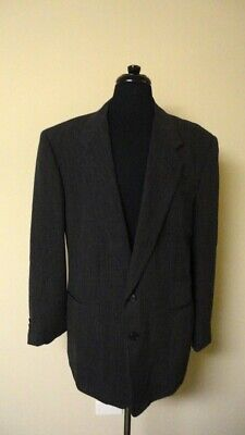 PAL ZILERI Charcoal Gray Wool Lined Two Button Blazer Jacket Size 46L GG7938