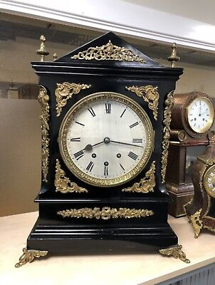 Musical 8 Bell 19th Century XL Boardroom Clock superb original condition