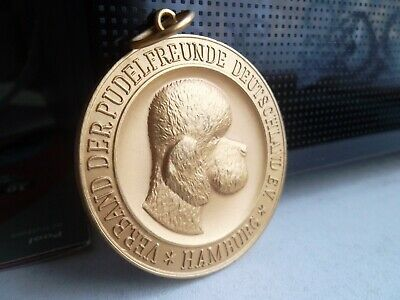 1965 large medal medallion 50 mm diameter with The poodle friends Germany e v.