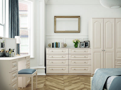 Langley White Wardrobe Chest Of Drawers Set Ready Assembled Bedroom Furniture UK