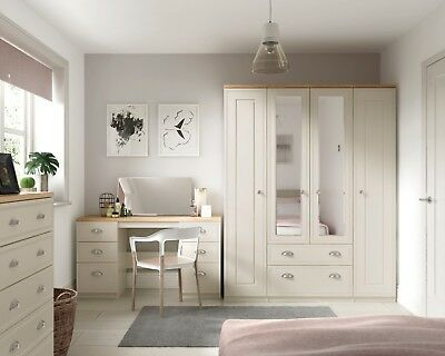 Venice Cashmere Wardrobe + Drawers Set Fully Ready Assembled Bedroom Furniture