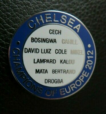 Chelsea Champions Of Europe 2012 Team Names Blue White Badge
