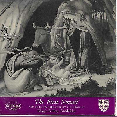 """The Choir Of King's College Cambridge The First Nowell UK 45 7"""" sg  XMAS"""