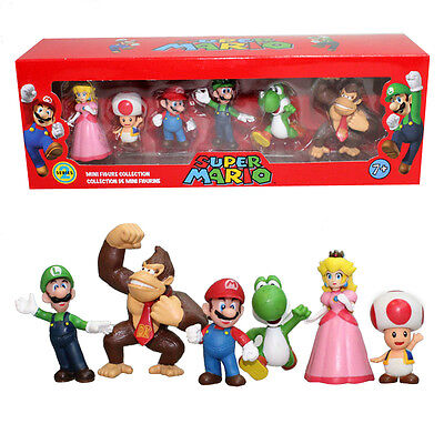 2019 6pcs PVC Super Mario Bros.4 Series Game Action Figure Doll Toy Cake Topper