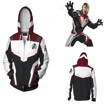Avengers Endgame Quantum Realm Jacket Hoodie Sweater Comic Costume Cosplay