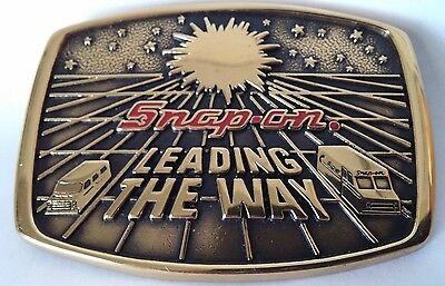 1988 Snap-On Leading The Way BTS Solid Brass Belt Buckle USA Made
