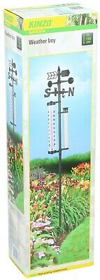 Kinzo Garden Weathervane Weather Boy Thermometer Wind Speed Ornament Decoration
