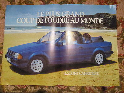 Poster 2 Pages Auto : Ford Escort Cabriolet