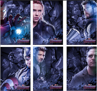 Avengers Endgame Film 2019 Edition MARVEL Characters Art Movie Poster Print