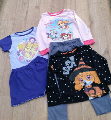 Girls PAW PATROL Pyjamas Cotton& Top Bundle 2-4 Years camping caravan holiday