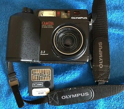 Olympus CAMEDIA C-3030 Zoom 3.3MP Digital Camera - Black~~Excellent~~SD Card~~