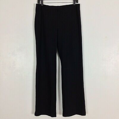 Eileen Fisher Ponte Knit Pull On Pants Size S Small Black Italian Fabric Stretch