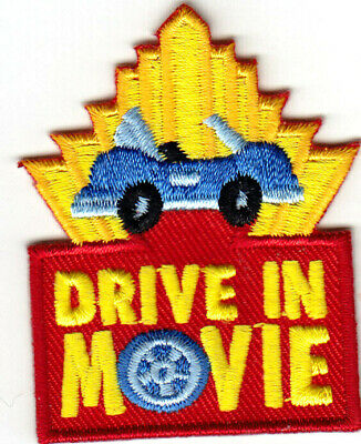 DRIVE IN MOVIE Iron On Patch Movies Theater