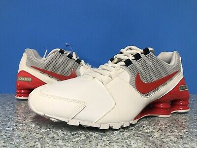 91688c85d59 Nike Shox Avenue Athletic Running Shoes 833584-103 Mens Sz 9 Red White