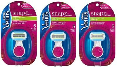 3 Pack Gillette Venus Snap with Embrace Women's Razor 1 ea