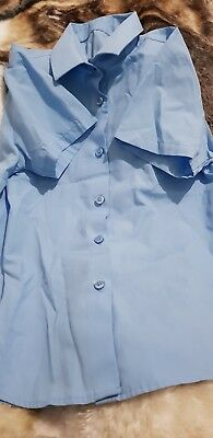 Lovely Girls GEORGE blue School blouse Age 8-9 Years