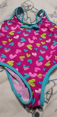 Lovely Girls YD love hearts swimming costume age 3-4 yrs