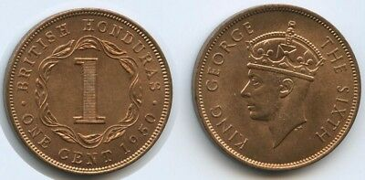G2628 - British Honduras (Belize) One Cent 1950 KM#24 UNC Erhaltung George VI.
