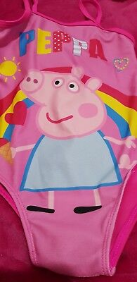 Lovely Girls Peppa pig Swimming costume Age 2-3 Years