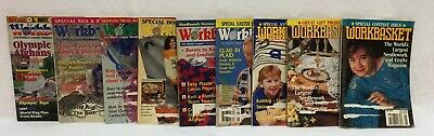 Workbasket Magazines Needlework Crafts Food Garden Vintage 1992 to 1996 Lot of 9