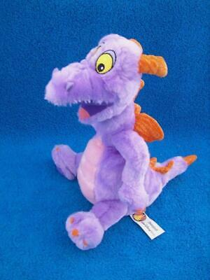 "Vintage Disney Figment Purple Dragon 10"" Plush Epcot Theme Park - Mint !"