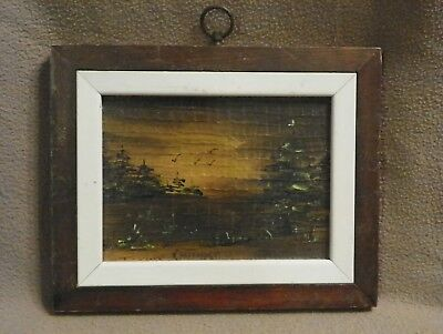 "Painting by Irene ""RAE"" Partridge 259-5989 Framed Oil Art Landscape"
