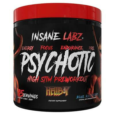 Psychotic Hellboy Pre Workout- 35 servings - Blue Raspberry By Insane Labz