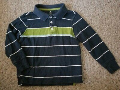OLD NAVY Navy Blue Striped Long Sleeved Rugby Top Boys Size 5T