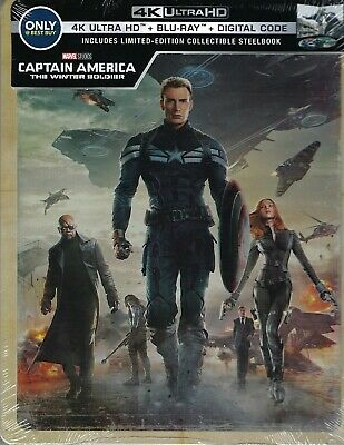 Captain America: The Winter Soldier 2-Disc 4K Limited Edition SeelBook; A, B & C