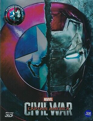 Captain America: Civil War WeET Collection Exclusive SteelBook w/Slip A1; Korea