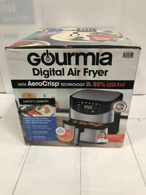 Gourmia GAF680 Digital Air Fryer 6 qt. - Stainless Steel - NEW IN OPEN BOX
