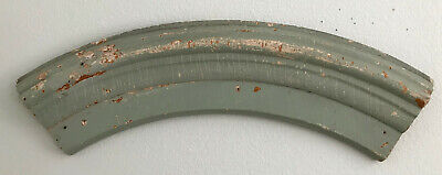 Antique Vintage Salvaged Wood Arched Pediment Shabby Chic Chippy Putty Green