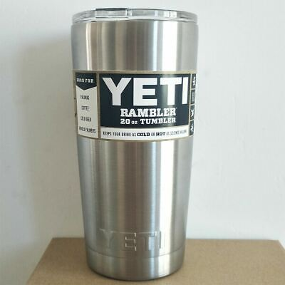 Brand New Yeti Rambler Tumbler 20oz Stainless Steel with Lid-Free Shipping
