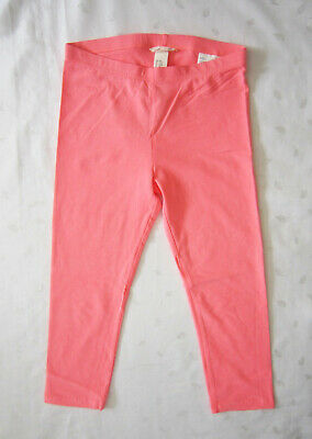 NWT H&M CONSCIOUS Girls Cropped Cotton Leggings Pants in Pink Size 12-13 Years