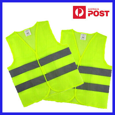 Hi Vis Yellow Safety Vest Reflective double Tape Work Jacket High Visibility new