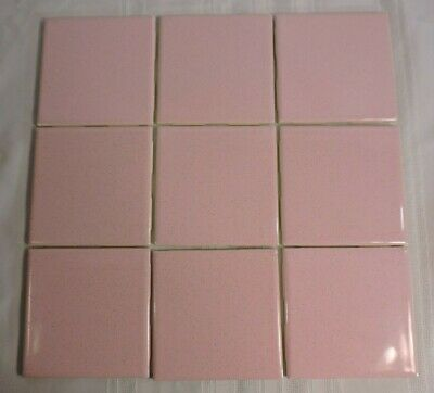 Vintage Pink Speckled tile USA Seneca Floor Wall BRAND NEW 9 PC.1 Sq. Ft. 4.25""