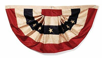 Tea Stained American Flag Bunting – Display Stars and Stripes on Holidays