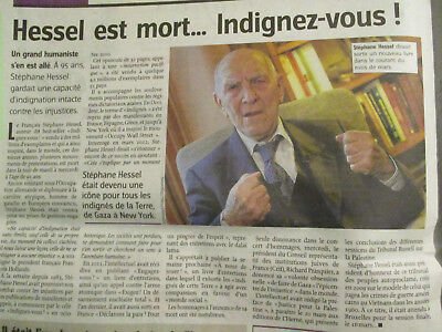 Journal Du Deces De : Stephane Hessel - 28/02/2013 -