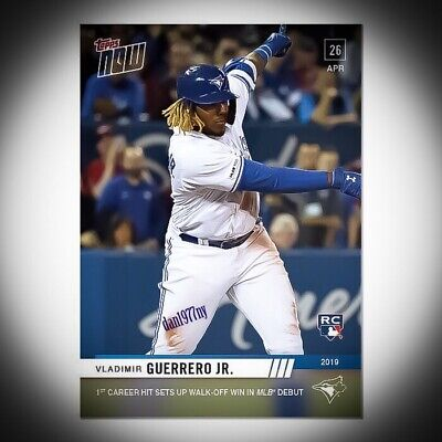 2019 Topps Now #137 Vladimir Guerrero Jr 1St Career Hit Rc. Free Shipping*