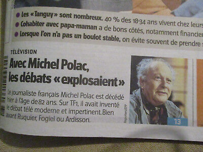 Journal Du Deces De : Michel Polac - 08/08/2012 -