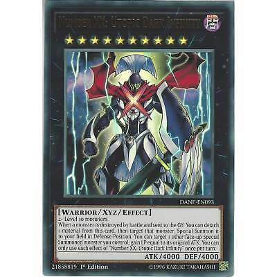 Number XX: Utopic Dark Infinity DANE-EN093 - Ultra Rare Card 1st Ed Yu-Gi-Oh TCG