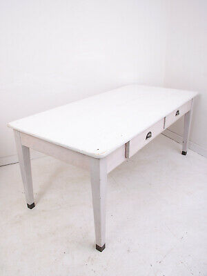 Antique Pine Painted Dining Table